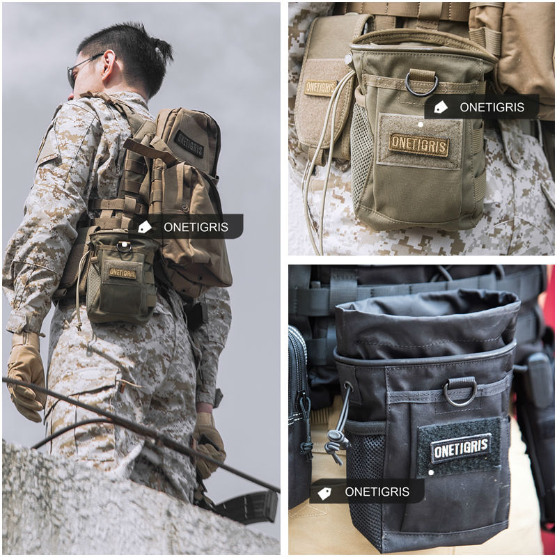 f6514fd5d8b5 OneTigris Tactical MOLLE Ammo Pouch Magazine Drop Pouch Bag Water ...