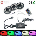 5050 RGB LED Strip light 30LEDS 5m 10m 15m flexible Led Diode led Tape RGB SMD 44 keys IR controller 12V  Power Adapter set