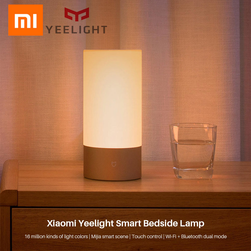 Image 2 - Yeelight Xiaomi Bedside Lamp MJCTD01YL LED Light Table Desk Lamp Smart Light Touch Control Bluetooth Connection for MiHome APP-in Smart Remote Control from Consumer Electronics