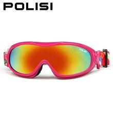 Polisi niños niños de invierno gafas de esquí snowboard skate gafas de motos de nieve anti-vaho uv400 esqui ski nieve gafas protectoras