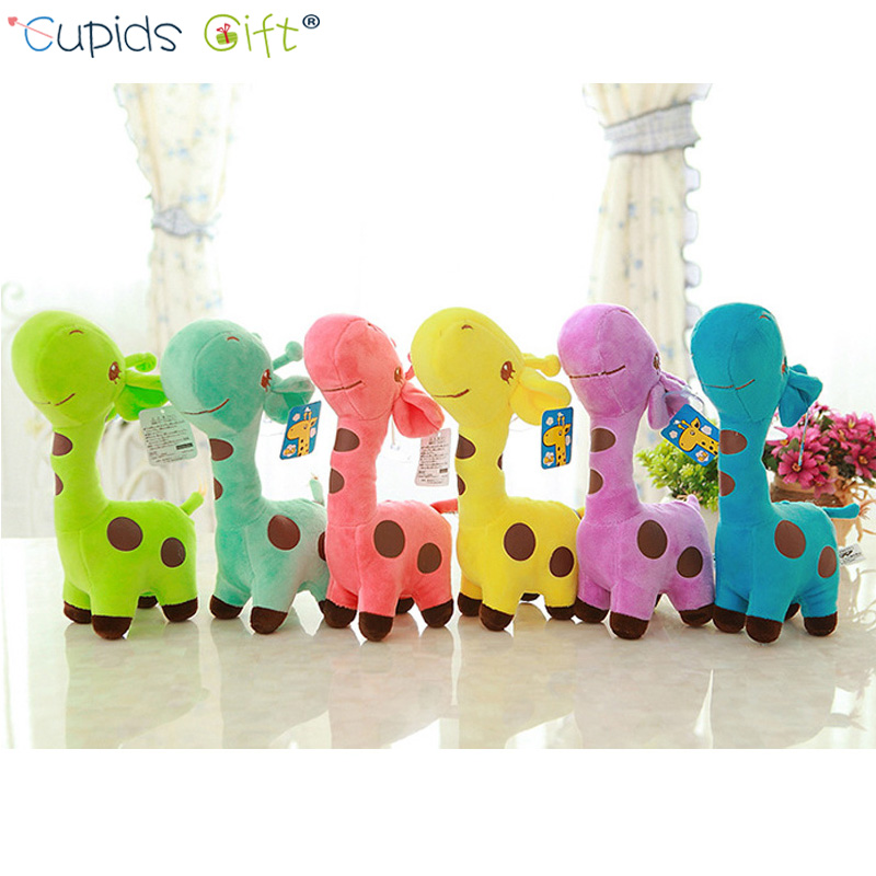 18cm Unisex Cute Gift Plush Giraffe Soft Toy Animal Dear Doll Baby Kid Child Christmas Birthday Happy Colorful Gifts 6 Colors