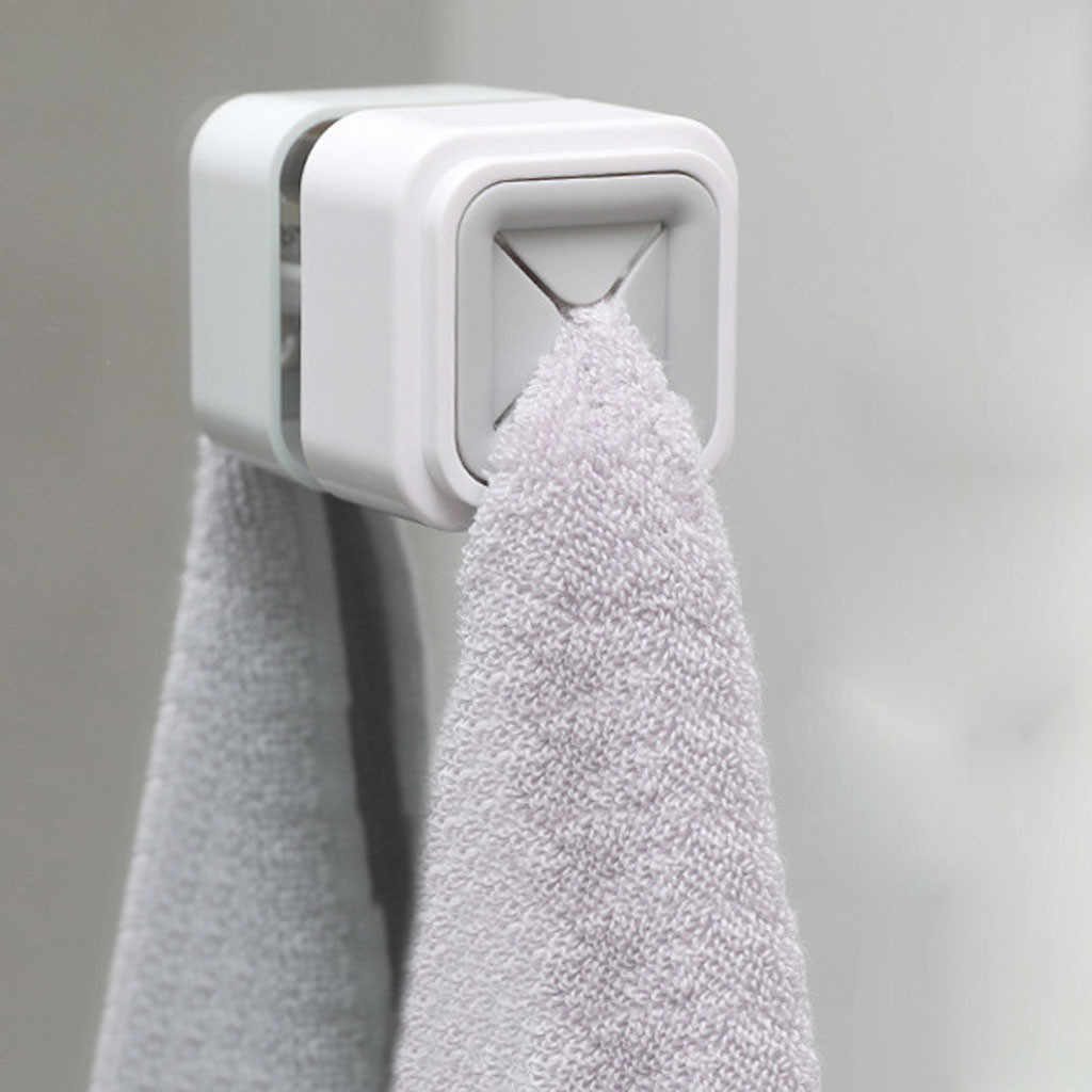 2PCS Punch-free Paste Towel Stopper Wipe Rack Bathroom Plastic Waterproof Toilet Paper Storage Kitchen Dishcloth Rag Organizer