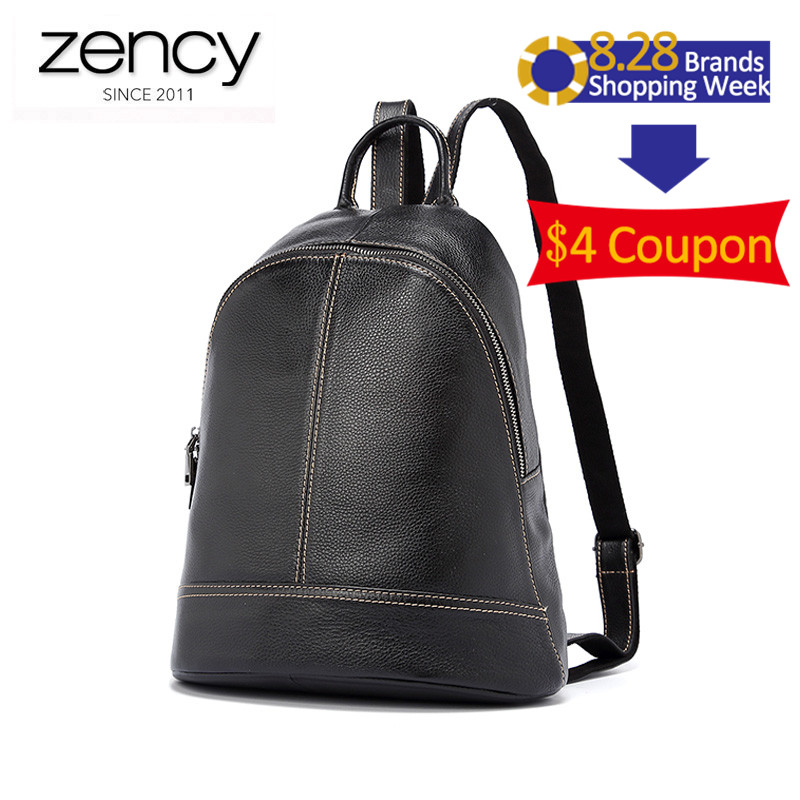 2017 New Genuine Leather Women Backpacks High Capacity Laptop Travel Packs 5 Colors Purses For Famale