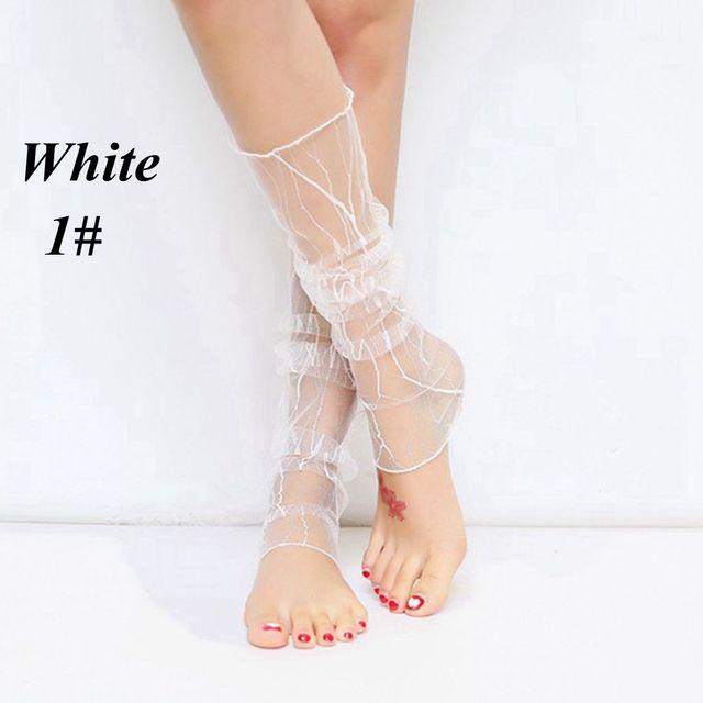 New Design 1 Pair Women Summer Fishnet Dual Function Silk Anti-UV Gloves Or Leg Lace Mesh Socks Hot Sale 2017