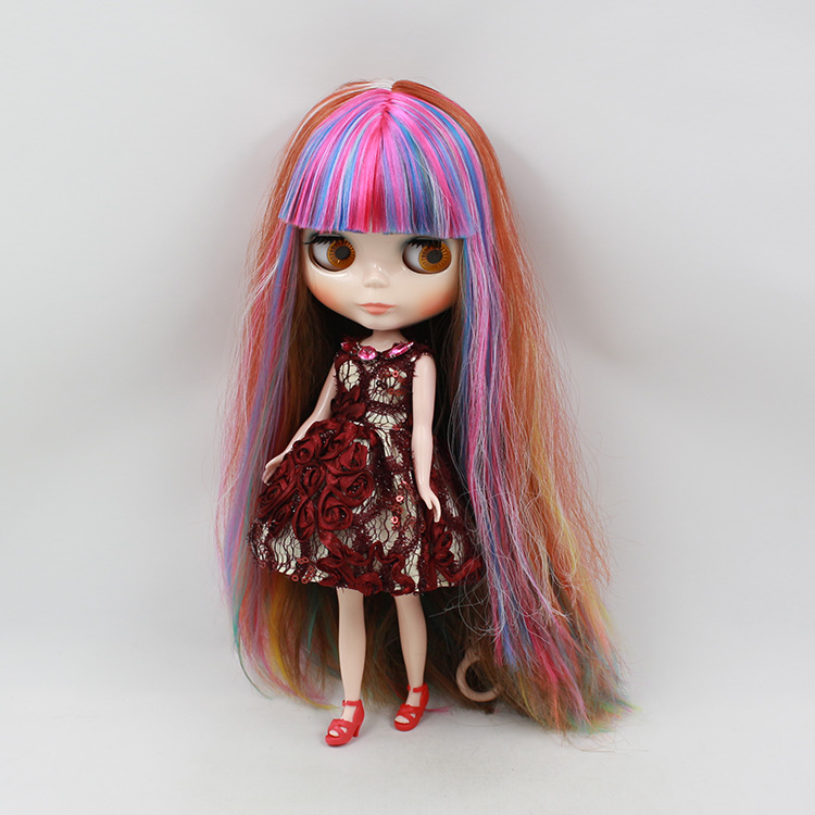 Hot toys 1/6 dolls blyth nude bjd doll 12 multicolor long hair with bangs mini dolls for girls makeup blyth bjd dolls for sale hot sale 12cm foreign chavo genuine peluche plush toys character mini humanoid dolls