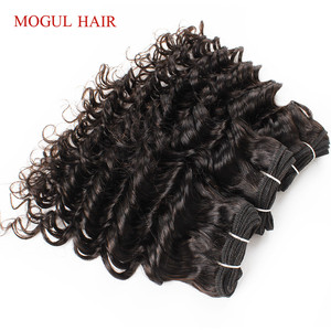 Image 2 - MOGUL שיער 4 חבילות ברזילאי עמוק גל טבעי שחור צבע 50 גרם\יחידה כהה חום שאינו רמי שיער טבעי קצר בוב סגנון