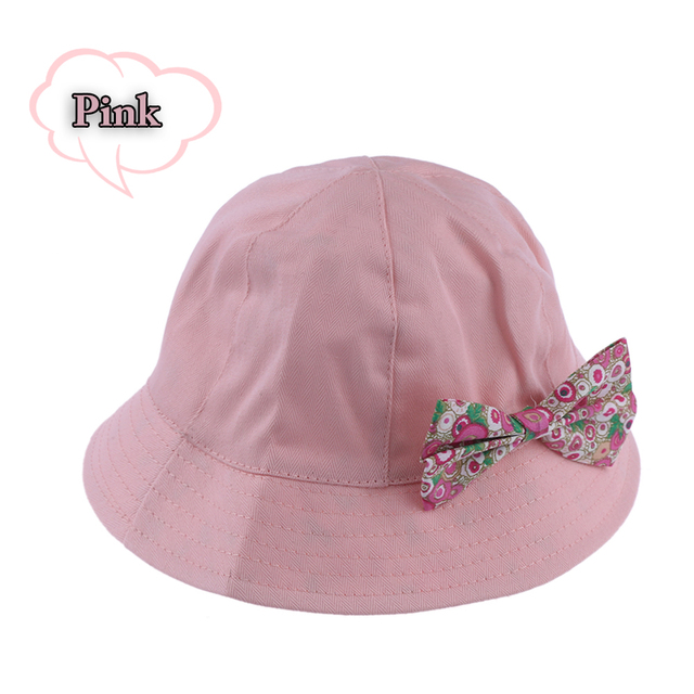 931623a3b1069 1PC Kids Girls Summer Cap Cute Princess Infant Flower Sun Cap Cotton Bucket  Hat Cute White and Pink Baby Hat Summer Cap