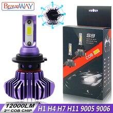 BraveWay H4 H7 Led Light Bulbs for Auto H1 H8 H11 HB3 9005 HB4 9006 Led