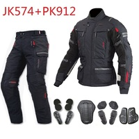 Free shipping 1set Motorbike Waterproof Cordura Motorcycle Armours Bike Style CE Approved Jacket Motorcycle Jacket and Pant