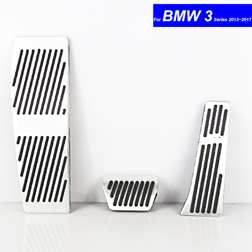 Car Petrol Clutch Fuel Brake Braking Pad Foot Pedals Rest Plate forBMW 3 Series 2013 2014 2015 2016 2017 Pedals Auto with M Logo