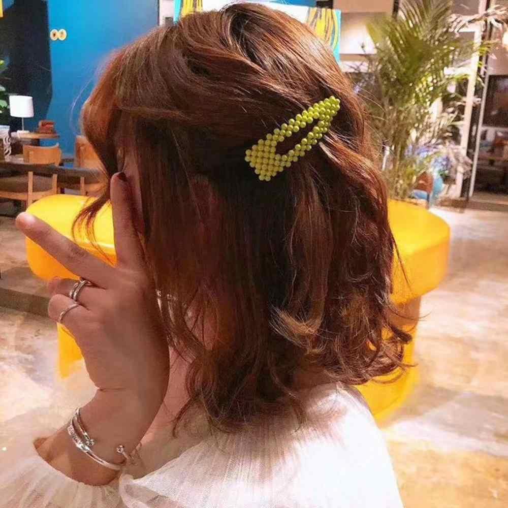 M MISM заколки для волос для женщин заколки для волос Красочные Имитация жемчужные Заколки из оловянной фольги блестки заколка для волос