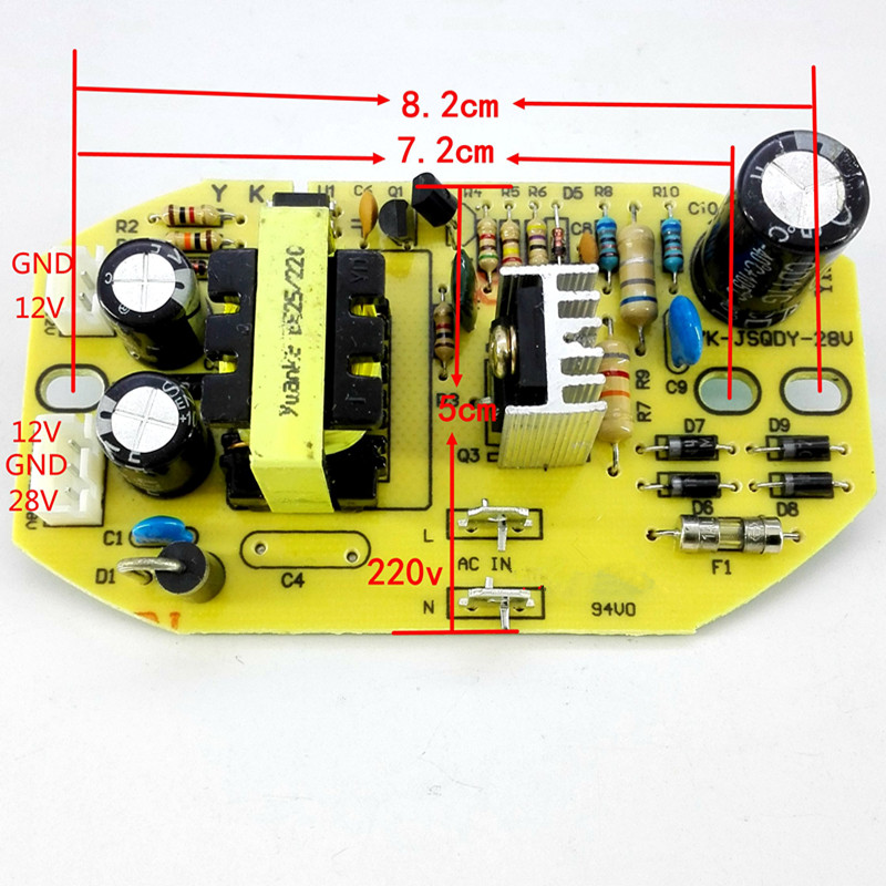 Replacement Humidifier Parts 28V Ultrasonic Control Main Panel Board Air Humidifiers 25W 28V General Circuit Power Supply Board nimble girls dress princess embroidery bow handmade flowers beaded pearls dress elegant lace dress for girl vestidos moana