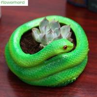 Snake shaped Flower Pot for Succulents Fleshy Plants Flowerpot Ceramic Small Mini Home/Garden/Office Decoration