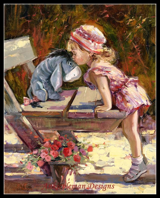 Needlework For Embroidery DIY DMC High Quality - Counted Cross Stitch Kits 14 Ct Oil Painting - A Kiss For My Friend