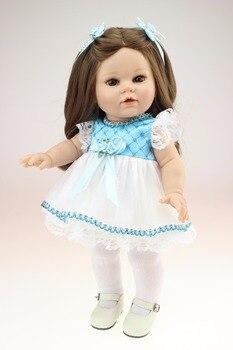 40CM Silicone vinyl adorable Lifelike priness girl doll kids reborn baby menina de doll toy for children best gift BJD
