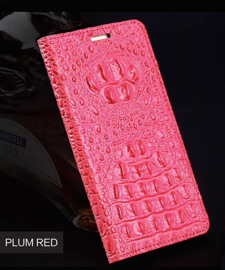 Luxury Genuine Leather flip Case For iPhone 6 Plus case 3D Crocodile back texture soft silicone Inner shell phone cover