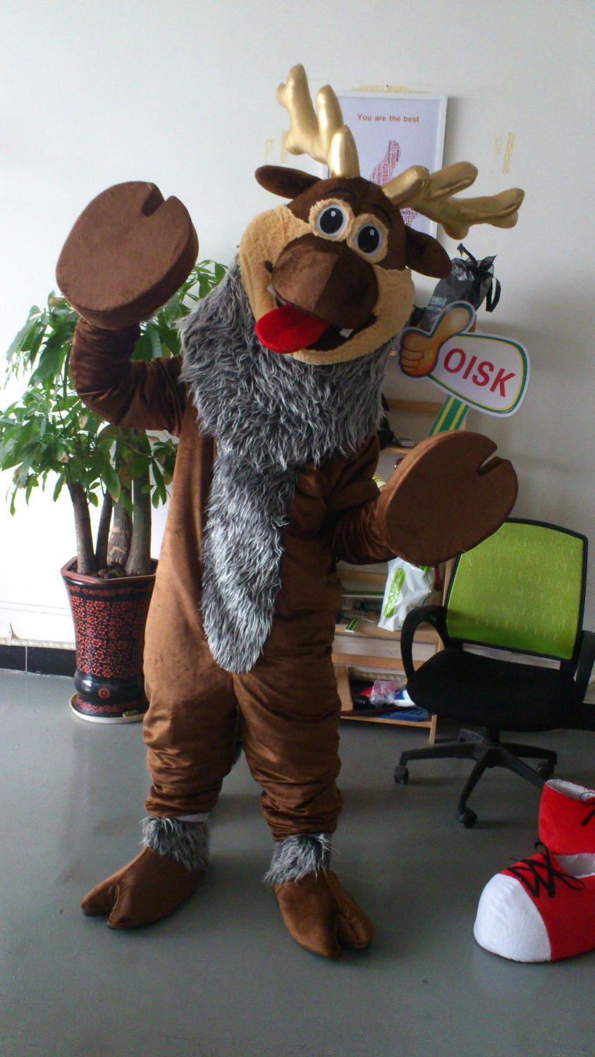 Ohlees Fast Shipping fanny cartoon movie deer sven mascot costume party birthday cosplay accept customize toys kids