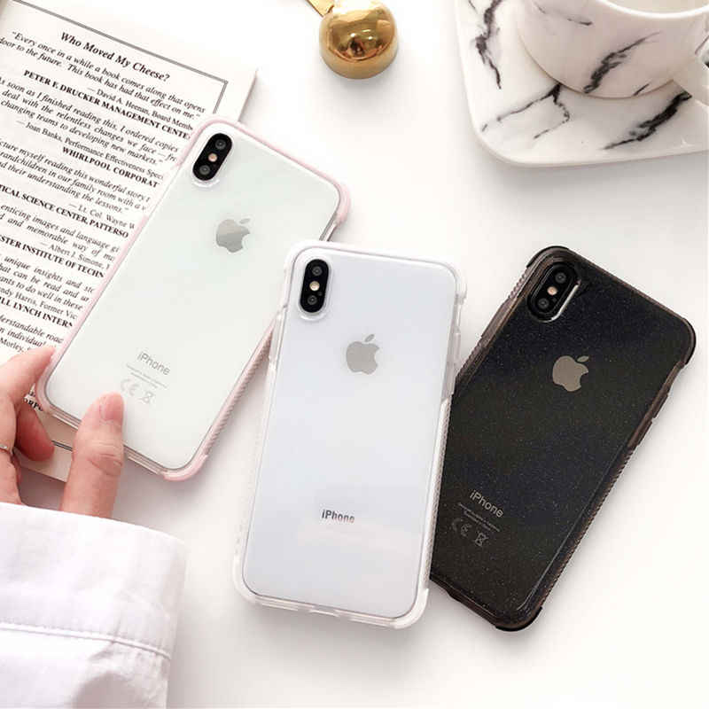 Étuis pour iPhone XR XS Max 6 6S Plus X transparents en TPU souple antichoc pour iPhone XR 7 8 Plus