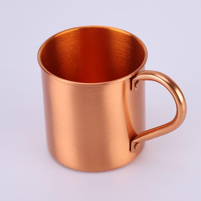16 oz Pur tasse en cuivre Moscow Mule Durable Cuivré chopes à bière Café Tasse tasse de lait De Cuivre Cocktail verre à whisky Verres