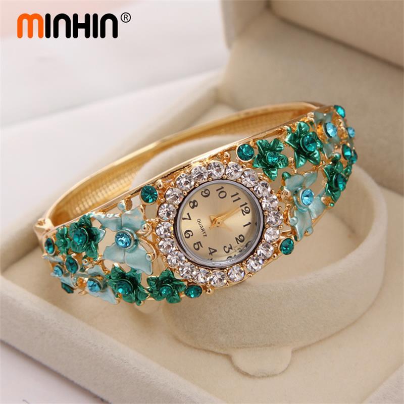 MINHIN Brand Design Wristwatches 4 Colors Butterfly Bracelet For Women Ladies Casual Quartz Fashion Watch Valentine's Day Gift