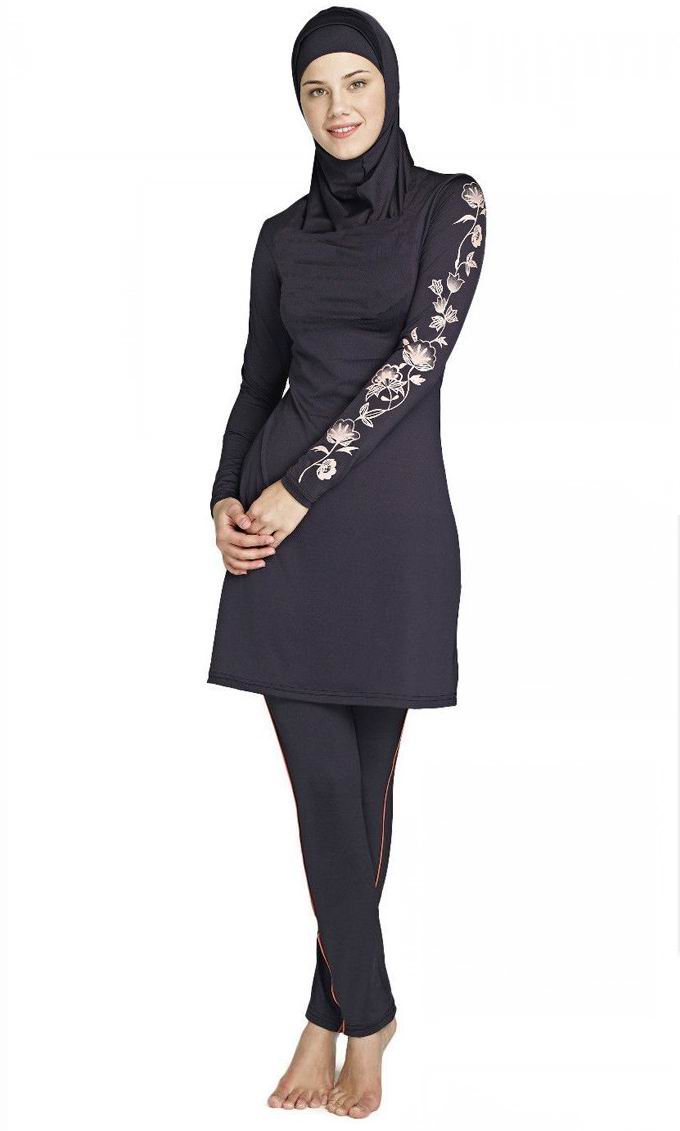 Muslim Swimwear Islamic Swimsuits For Muslima Covered Swimsuits Long Sleeve Beach Wear Plus Size S-4XL