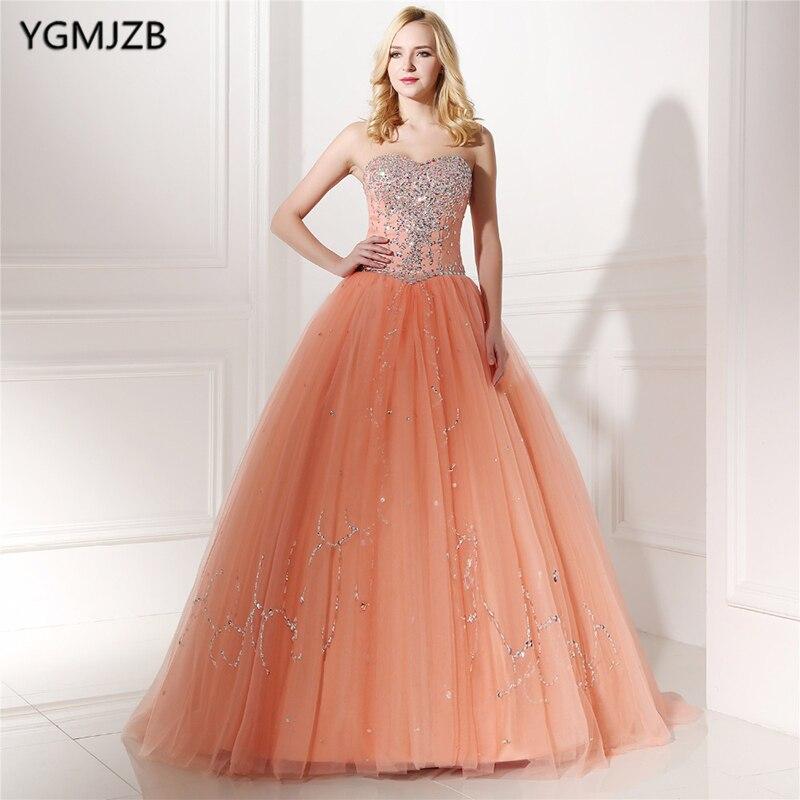 2018 Quinceanera robes perlées cristal chérie robes De 15 Anos robe De bal douce 16 robes Vestido Debutante