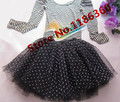 Polka Dot Tulle Skirt Women Dotted Tutu Ball Gown Skirts 2017 New Ladies Mesh Wedding / Party Skirt Free Shipping