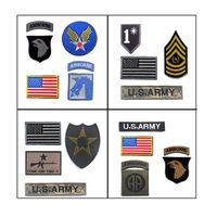 10set Lot 4pcs A Set 3D Embroidery Armband Come And Take It Patch American Military Uniforms