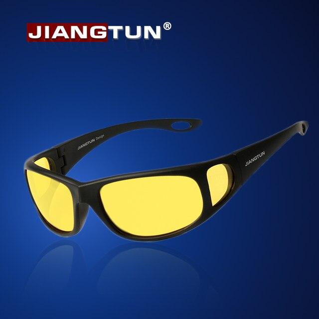 JIANGTUN HD Óculos de Visão Noturna Óculos Noite Condução Polarizada Óculos  De Sol 2018 Novo Designer Da Marca Amarela Gelbe Nachtfahr Rodovalho 5c1fbaf6b2