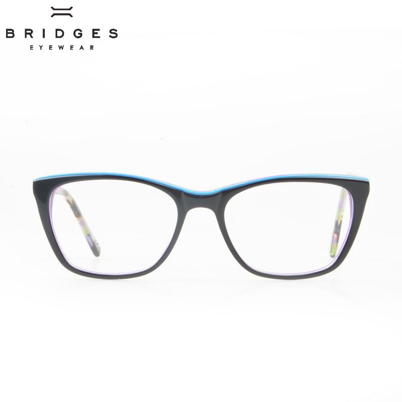 BRIDGES EYEWEAR Women Stylish Brand Designer Acetate Optical Glasses - Kläder tillbehör - Foto 2