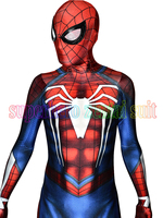 NEW PS4 INSOMNIAC SPIDERMAN COSTUME 3D Print Spandex Games Spidey Suit Fullbody Spider Man Superhero Costume Hot Sale