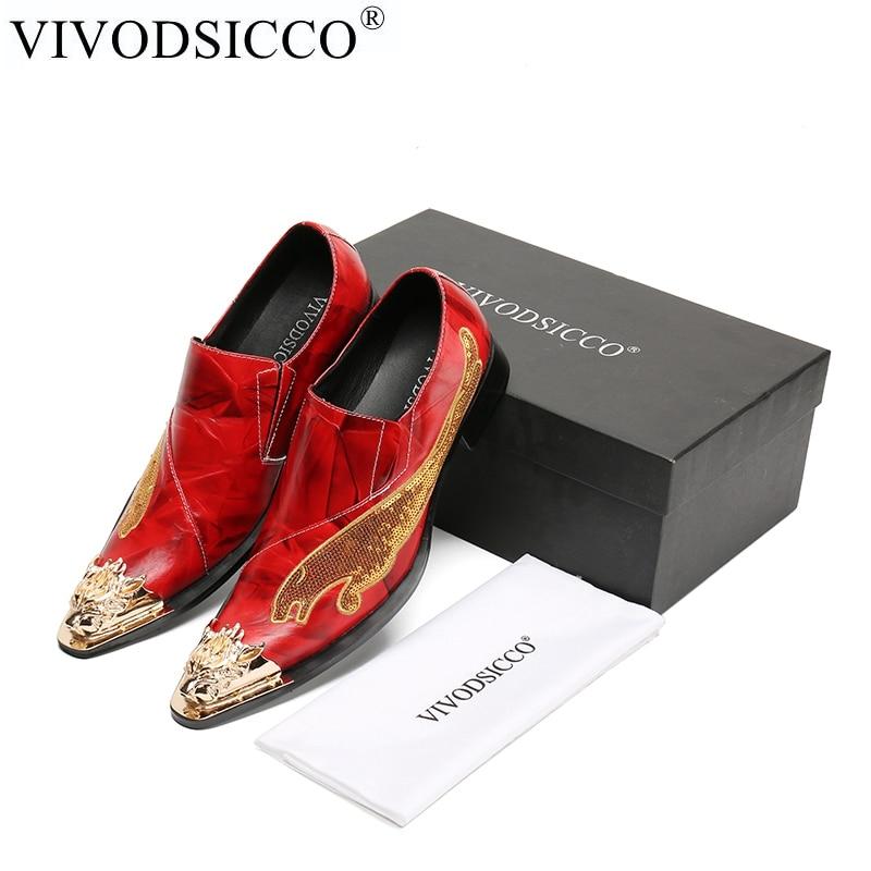 VIVODSICCO Fashion Genuine Leather Handmade Men Dress Shoes Italian Wedding Formal Shoes Men Oxford Shoes Men Flats Plus Size style me up style me up набор для создания украшений вязаные браслеты