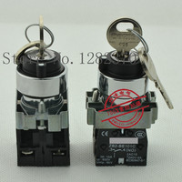 [ZOB] original original 22mm metal key switch XB2BG * 3C 3 segment lock 2NO 10pcs/lot