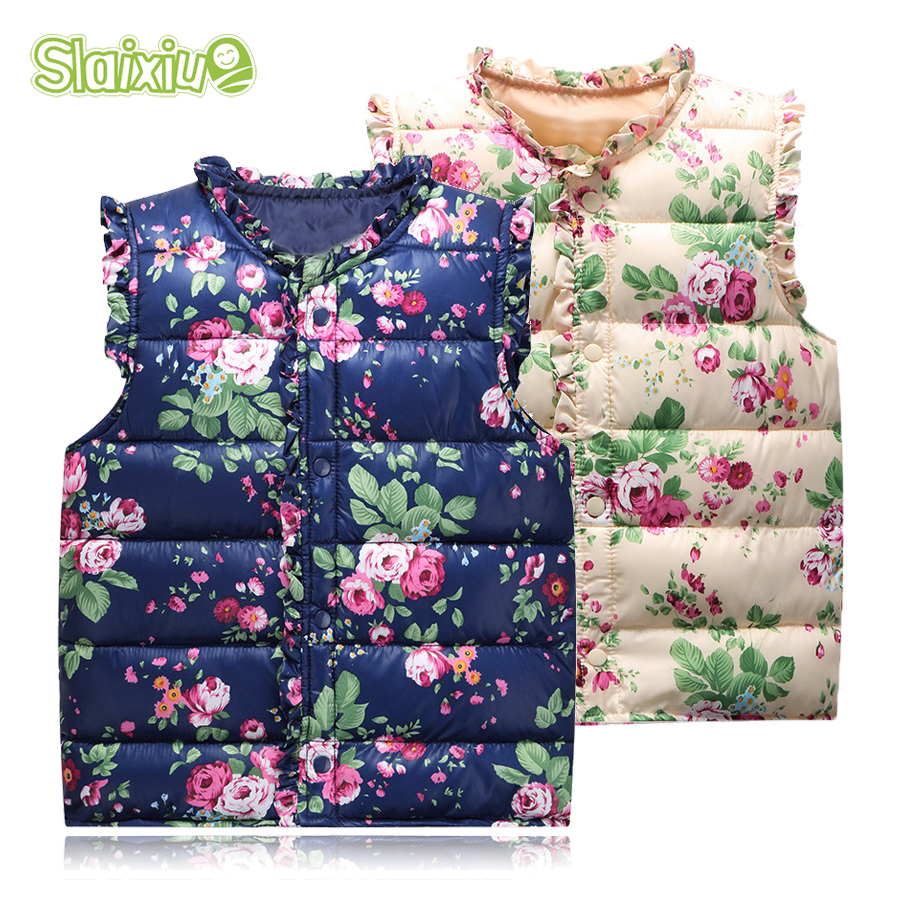Süße Floral kinder Mädchen Jacken Baumwolle Warme Kinder Weste Für Mädchen Weste Kinder Oberbekleidung Für Kinder Kleidung 6-Style