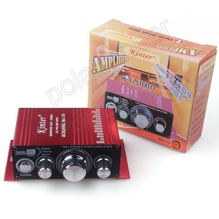 Potência de Áudio do carro CD DVD MP3 entrada 20WX2 RMS