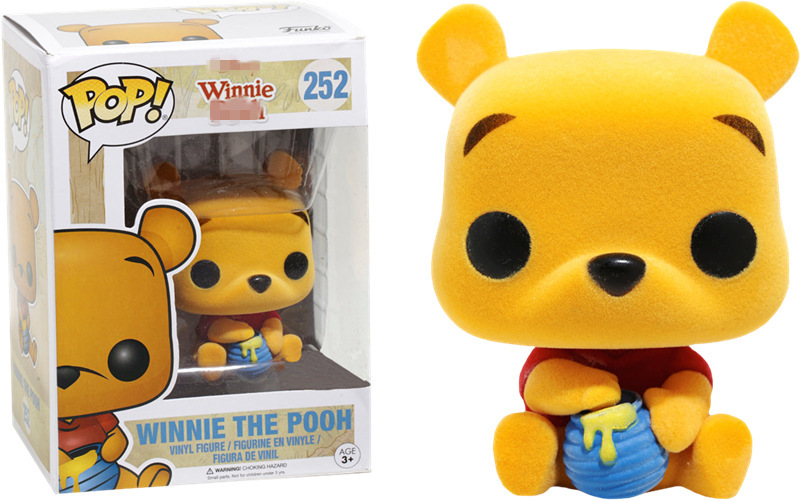 2017 Exclusive Funko pop Flocked Official Winnie Vinyl Figure Collectible Model Toy with Original Box  funko pop official marvel doctor who dalek vinyl action figure collectible model toy with original box