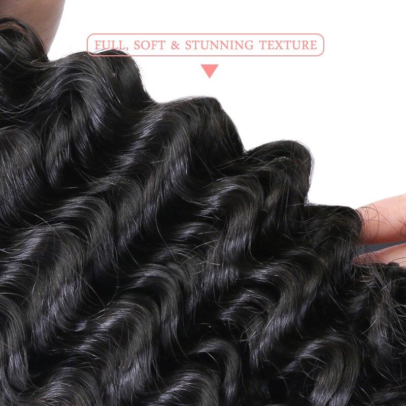 Ali reine cheveux produits vierge cheveux indien vague profonde en gros 10 pièces Lot cheveux humains paquets 10-26 pouces livraison gratuite - 3