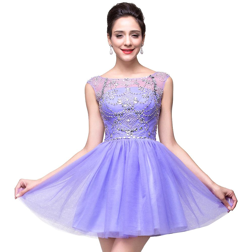 Online Get Cheap Short Purple Homecoming Dresses -Aliexpress.com ...