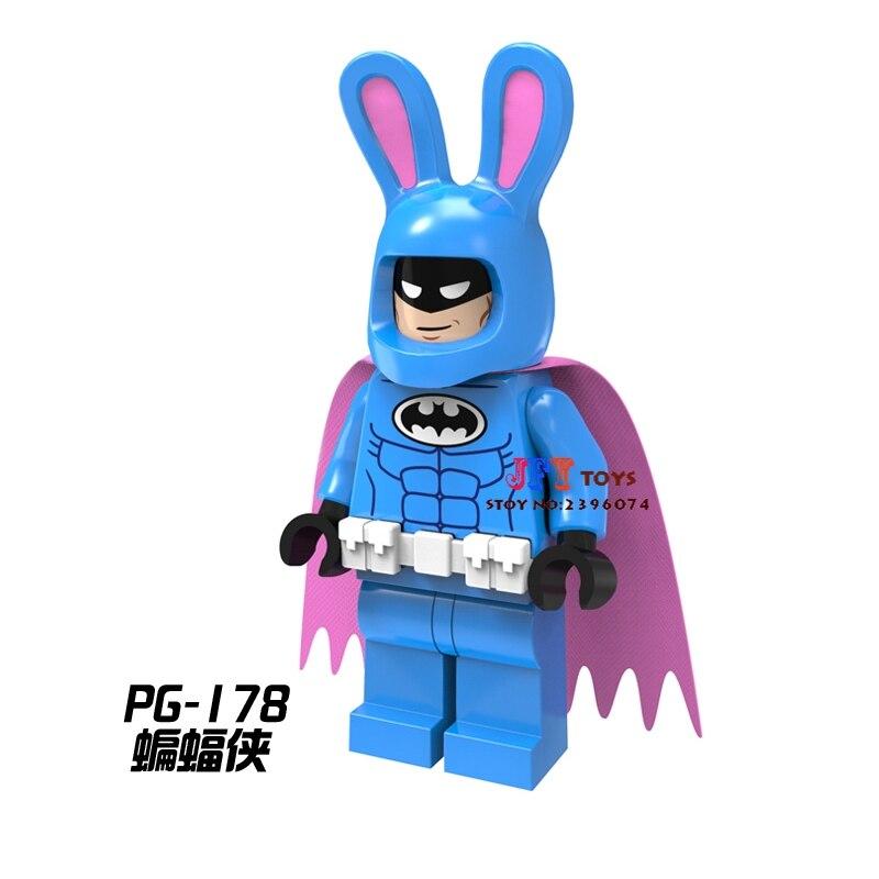 50pcs star wars super hero marvel dc comics models Rabbit Batman building block bricks for Gift children toys brinquedos menina
