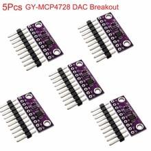 5 шт. MCP4728 12 бит breakoout 12 бит I2C цифро-аналоговый преобразователь DAC Сенсор модуль GY-MCP4728 низкая Мощность потребление FZ3481