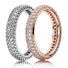 c0b780d0d 30% 925 Silver Rose Gold Pave Rounded Eternity Rings With Crystal For Women  Wedding Party