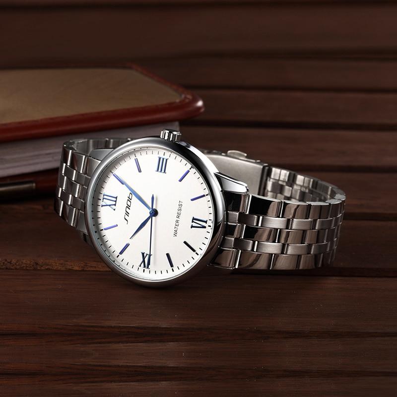 SINOBI אופנה חדשה שעונים נשים שעוני יד נירוסטה Watchband Top מותרות מותג נקבה קוורץ שעון נשים צמיד שעונים