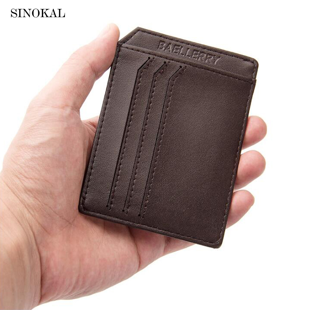 Baellerry Designer Brand Male Purse Men's Wallet Luxury PU leather Document Bag Slim Credit Card Driver License Holder Carteira baellerry business black purse soft light pu leather wallets large capity man s luxury brand wallet baellerry hot brand sale
