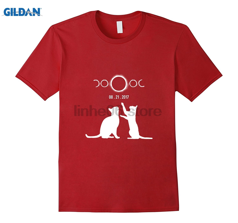 GILDAN Cat total solar eclipse funny t shirt dress T-shirt