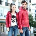SoftFox 2016 pato inverno para baixo casaco mulheres e homem curto parkas casaco espessamento Roupas Quentes Luva Cheia de Alta Qualidade Livre navio