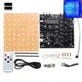Novo 1 PC 5 V 3D Kit Cubo de Luz Infravermelho Função de Controle Remoto Azul Neblina LED Versão Qualidade Durável Eletrônico Módulo DIY