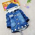 YNB 2016 Winter Children Coat Denim Clothes with Velvet Brand New Winter Coats Jacket for Boys and Grils