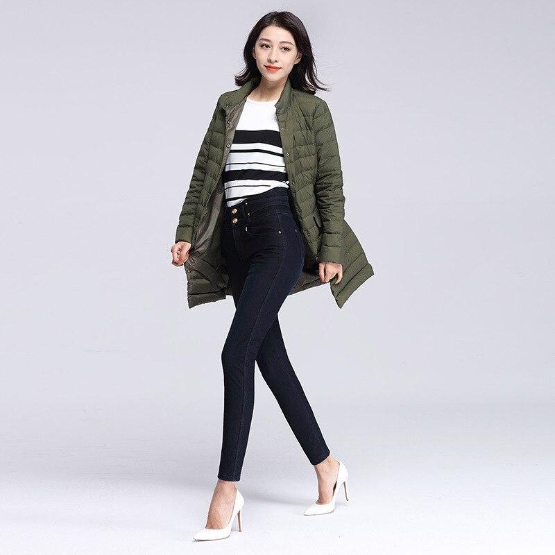 Женские брюки, зимние, матовые, толстые, шерстяные штаны, верхняя одежда, кашемировые, шерстяные джинсы, обтягивающие, с высокой талией, элас... - 3