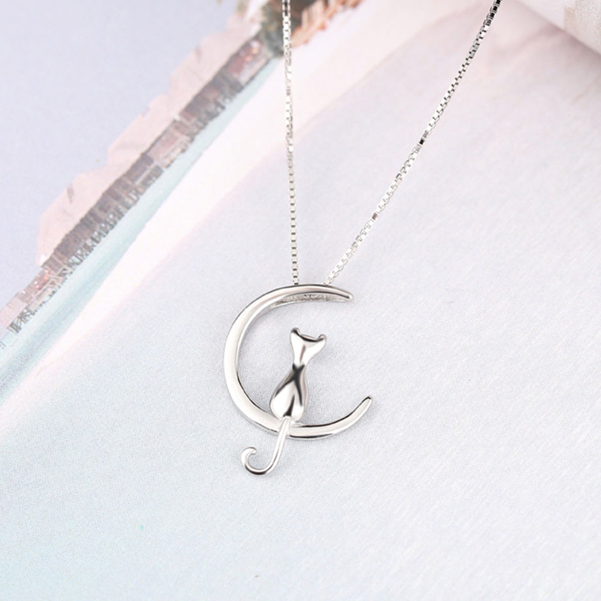 Pendant,Necklace For Women,Cat Moon Fashion Necklace,Necklace,jewelry,