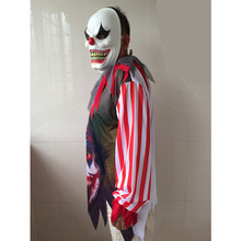 Halloween Horror Clown Cosplay Costume With Mask Adult Men Boys Costumes Timid people please do not buy